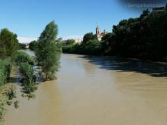 Senigallia: il fiume Misa in piena