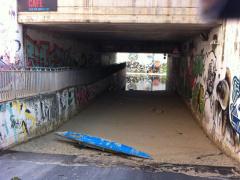Un sottopasso a Montemarciano