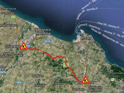 Il cantiere A-14 tra Ancona nord e Ancona sud
