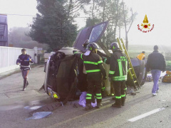 Immagine dell'incidente sulla direttissima del Conero