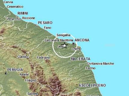 Terremoto 30 novembre 2014 a Camerata Picena