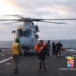 Mezzi della Marina Militare in soccorso ai naufraghi del Norman Atlantic