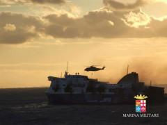 Mezzi della Marina Militare in soccorso al Norman Atlantic