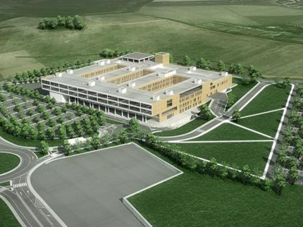 Il nuovo complesso ospedaliero sede dell'Irccs Inrca e dell'Ospedale di rete della zona sud di Ancona