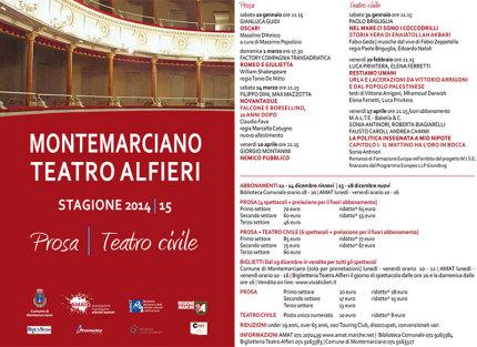 programma stagione teatrale 2015 teatro Alfieri di Montemarciano