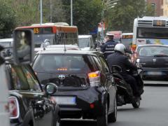traffico, smog, automobili, macchine, caos