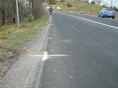 La Polizia Stradale sul lugo dell'incidente a Montecarotto