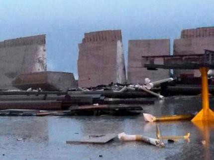 diga crollata Fincantieri Ancona