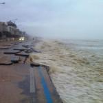 Il litorale di Montemarciano devastato dalle mareggiate del 6 febbraio 2'015