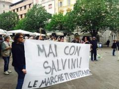 Proteste contro Salvini ad Ancona