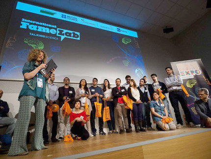 I concorrenti alla finale di Famelab 2015 all'Expo 2015