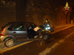 Auto incidentata a Fabriano
