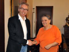 L'incontro di Luca Ceriscioli con il sindaco di Ancona Valeria Mancinellil