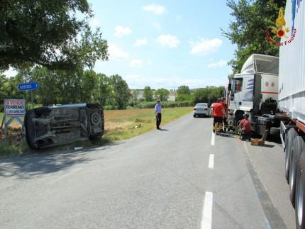 Incidente stradale a Polverigi