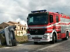 Vigili del Fuoco intervenuti per un incidente a Jesi