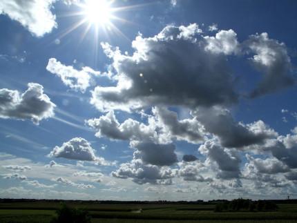 nuvole e sole, meteo, condizioni meteo, previsioni