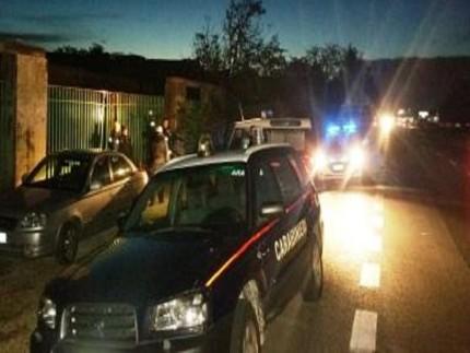 Carabinieri all'ex-Montedison di Falconara