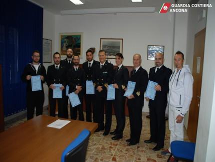 Brevetti conseguiti dalla Guardia Costiera di Ancona