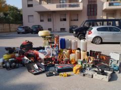 La refurtiva recuperata e sequestrata dai Carabinieri di Jesi