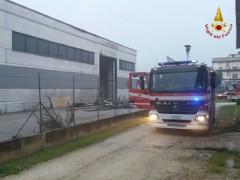 Incendio a Castelbellino