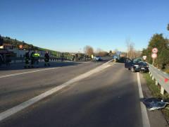 Drammatico schianto nella mattinata di venerdì 5 febbraio lungo la strada statale tra Osimo Stazione e Villa Musone di Loreto