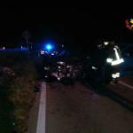 Soccorsi e rilievi sul luogo dell'incidente tra Loreto e Porto Recanati