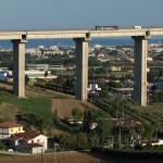Il viadotto dell'autostrada A14 del Salinello, a Giulianova (Teramo)