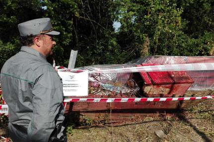 Gli agenti della Stazione forestale del Conero nei giorni scorsi hanno sequestrato 20 tonnellate di lastre di amianto abbandonate in un'area rurale nel territorio comunale di Numana