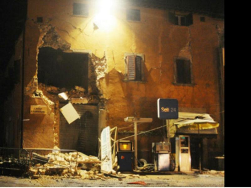terremoto avenuto nella serata del 26 ottobre