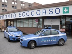 Polizia al pronto soccorso