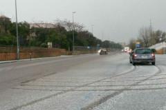 La neve a Collemarino nella mattinata di giovedì 5 gennaio