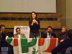 L'europarlamentare PD Simona Bonafè a Senigallia. A sinistra Pietro Colonnella e Francesco Comi; a destra Maurizio Mangialardi e Silvana Amati