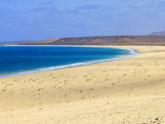 Spiaggia sull'isola di Sal