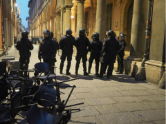 Polizia all'università di Bologna