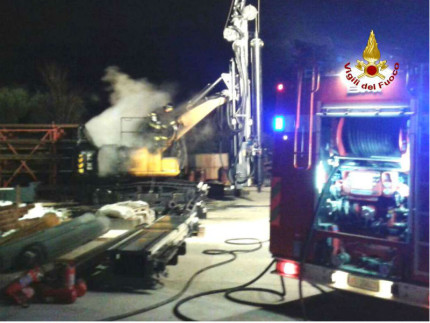 Incendio macchinari di una ditta di Osimo