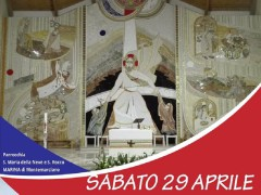 Inaugurazione mosaico a Marina di Montemarciano