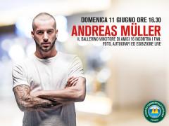 Andreas Muller al Centro Commerciale Auchan Conero