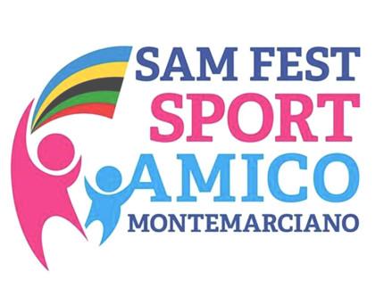 """Il volantino della prima edizione di """"Sam Fest - Sport amico Montemarciano"""""""