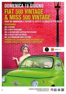 Domenica 18 giugno l'elezione di Fiat 500 Vintage e Miss 500 Vintage al Centro Commerciale Auchan Conero - locandina