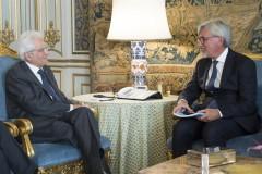 Il presidente della Repubblica, Sergio Mattarella, ha ricevuto al Quirinale una delegazione della Fondazione ENPAM, l'ente nazionale di previdenza e assistenza dei medici e degli odontoiatri, guidata dal presidente Alberto Oliveti