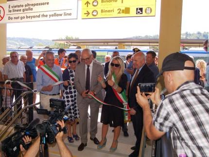 Inaugurazione binari alla stazione di Castelplanio