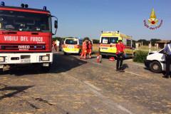 L'incidente alla Gabella di Montemarciano, i soccorsi in atto