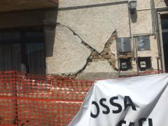 La zona rossa a Gagliole, nel maceratese, uno dei tanti centri devastati dal terremoto del 24 marzo 2016. Foto di Beatrice Brignone scattata ad agosto 2017
