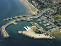 Il fiume Misa e il porto di Senigallia