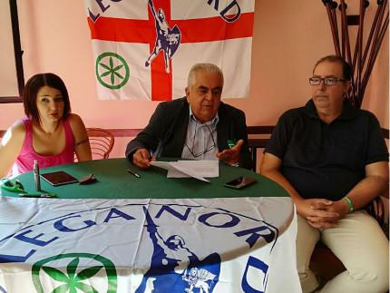 I rappresentanti della Lega Nord Marche e Senigallia: da sx Silvestrini, Zaffiri e Da Ros