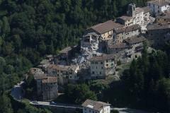 Il comune di Arquata del Tronto (AP) dopo il terremoto del 24 agosto 2016