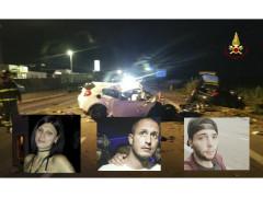 incidente costato la vita a tre giovani