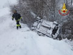 Incidente a Fabriano, nevicata
