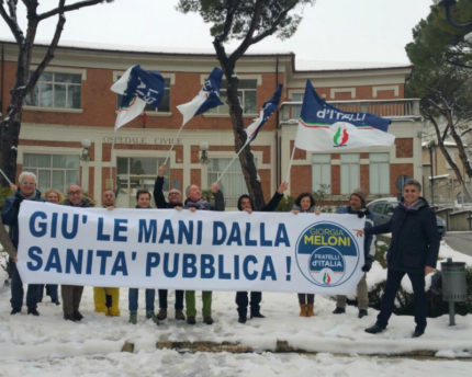 Fratelli d'Italia, manifestazione a Senigallia