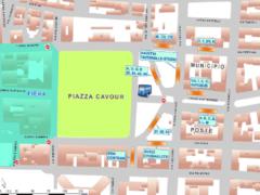 Piantina del centro di Ancona in concomitanza con la Fiera di San Ciriaco
